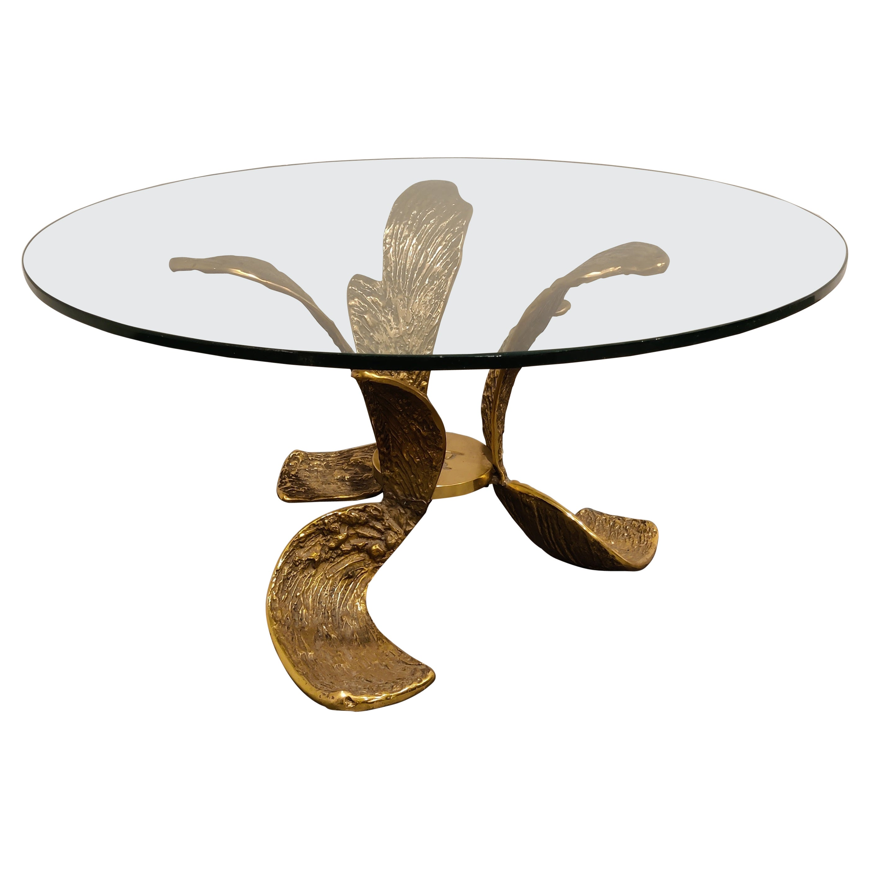 Sculpted Bronze Coffee Table, 1970s