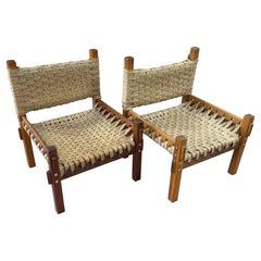 1960's Teak Lounge Chairs