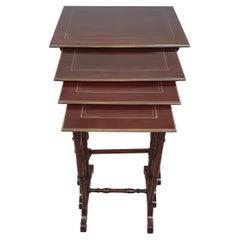 Stunning 19th Century Mahogany Nest of Four Tables