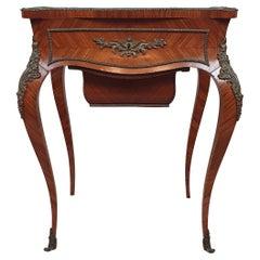 19th Century Kingwood Side or Work Table with Ormolu Mounts