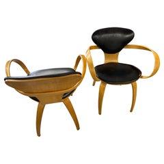 Norman Cherner Plycraft Pretzel Armchairs