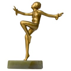 Art Deco Figurative Spelter Dancer, c1930