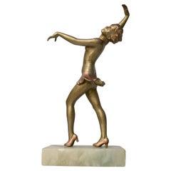 Art Deco Dancer Spelter Figure, c1930