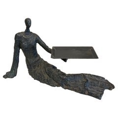Business Card Holder Sculpture in the Style of Giacometti