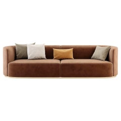 Contemporary Hand Tailored Sofa with Round Edges