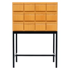 Chest of Drawers, File Cabinet Ash Wood 1970s