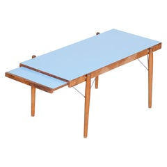 Small Blue Table, Czech Midcentury, Preserved in Original Condition, 1950s