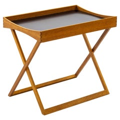 Folding Side Table in Oak and Formica by Torsten Johansson for Bo-Ex, ca 1963