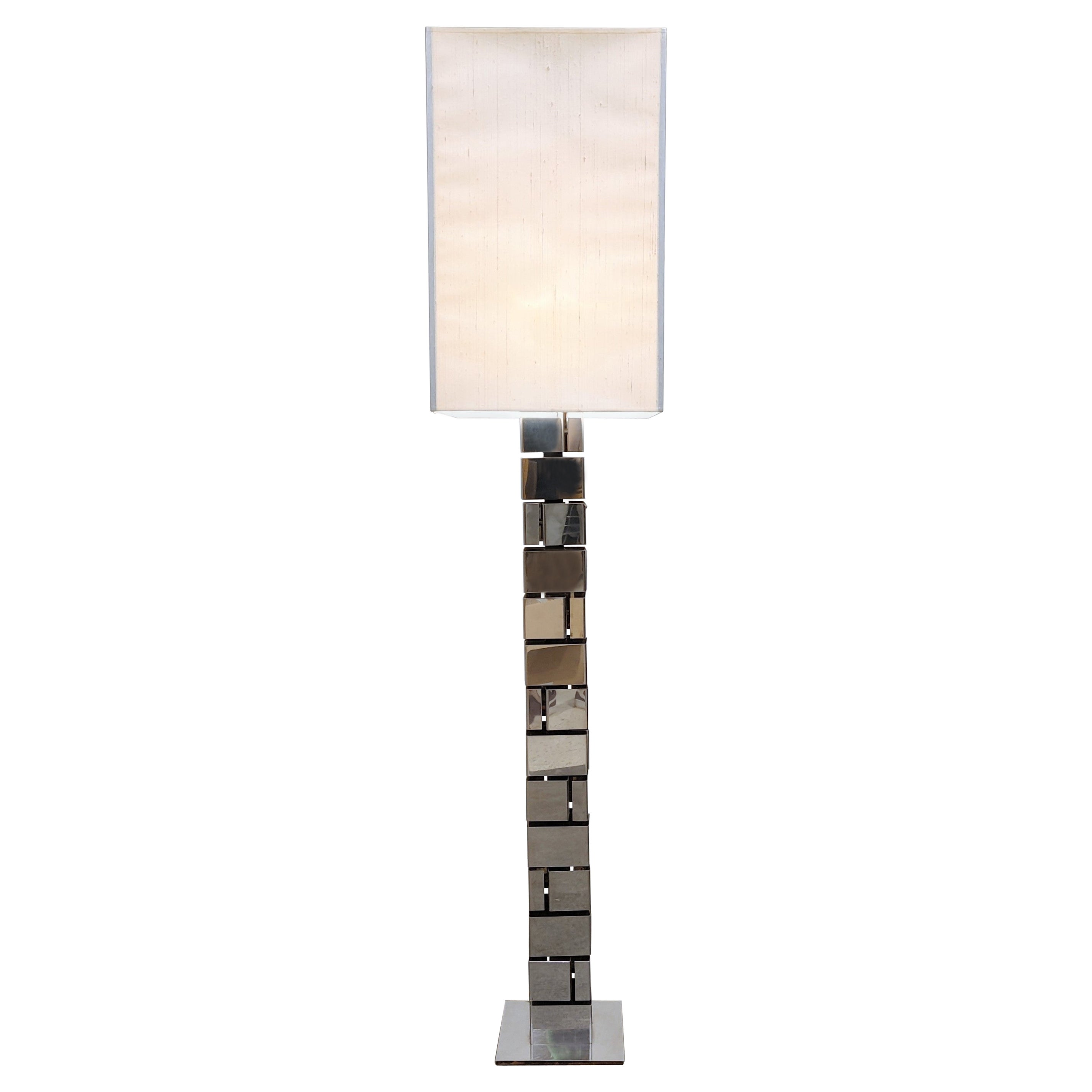 Chrome Floor Lamp by Curtis Jere, 1970s