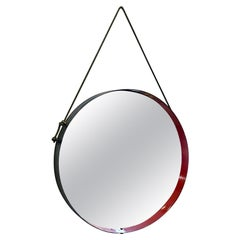 Italian Mid-Century Modern Round Metal Mirror, 1960s
