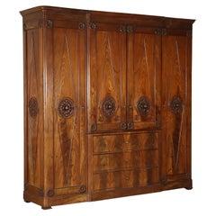Wardrobe Bourbon Restoration Attributable to Henry Thomas Peters, Italy