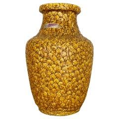 "Super Colorful Fat Lava Pottery ""CONTURA"" Vase by Bay Ceramics, Germany, 1950s"