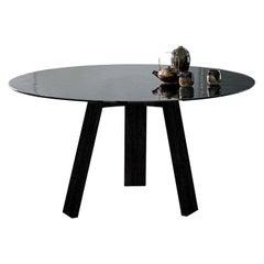 Maya Dining Table, Natural Ash and Liquid Glass by Lars Beller Fjetland