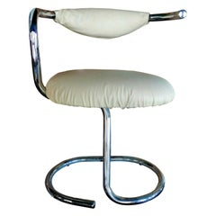 "Collectibles Chair ""Spiral - Cobra"" White Series Design Giotto Stoppino, 1970s"