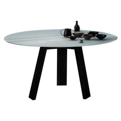 Maya Dining Table, Natural Ash and Materia Glass by Lars Beller Fjetland