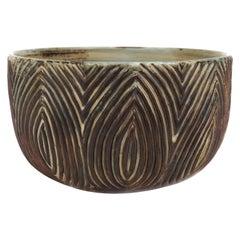 Circular Sung Glazed Stoneware Bowl by Axel Salto for Royal Copenhagen