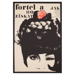 The Knack And How To Get It 1966 Czech A1 Film Movie Poster, Grygar