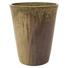 Large Danish Mid-Centrury Arne Bang Stoneware Vase, Signed Monogram