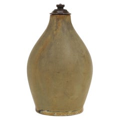Stoneware Vase, Cover of Patinated Bronze, Manufactured by Royal Copenhagen