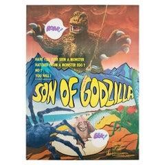 Son of Godzilla 1967 Japanese Export Film Movie Poster, Linen Backed