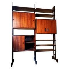 Modular Bookcase in Teak Design Vittorio Dassi, 1960s