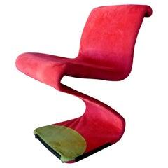 "Chair Armchair ""z- chair"" Model Design Gastone Rinaldi, 1970s"