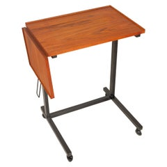 Vintage Danish Teak and Metal Table, 1970s