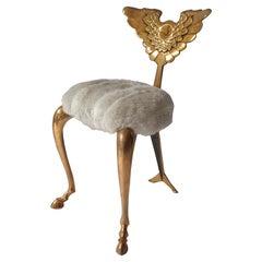 Bronze Chair Model 'Pegasus' by Mark Brazier-Jones