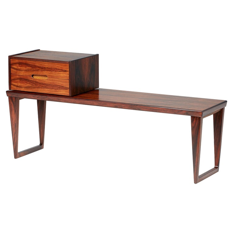 Kai Kristiansen Rosewood Bench and Drawers Set, circa 1960 For Sale