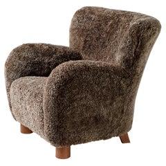 Custom Made 1940s Style Lounge Chair
