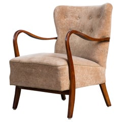 Easy Chair with Open Armrests by Alfred Christensen Denmark 1940's