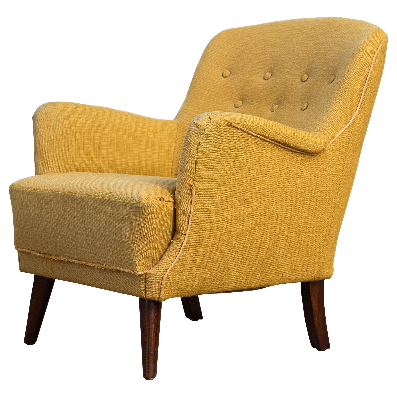 Danish Midcentury 1940s Flemming Lassen Style Low Lounge Chair