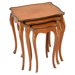 Antique French Inlaid Parquetry Nest of Tables