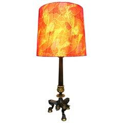 Antique Bronze Napoleon III Candelabra Table Lamp from the 1800s