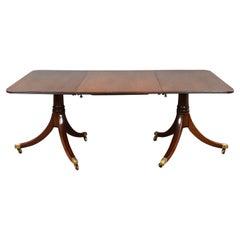 19th Century English Mahogany Pedestal Dining Table