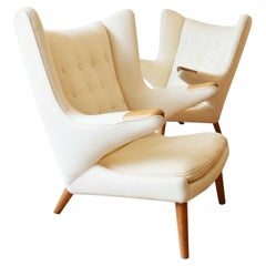 Pair of Model AP-19 Papa Bear Oak Chairs by Hans J. Wegner for A.P. Stolen, 1950