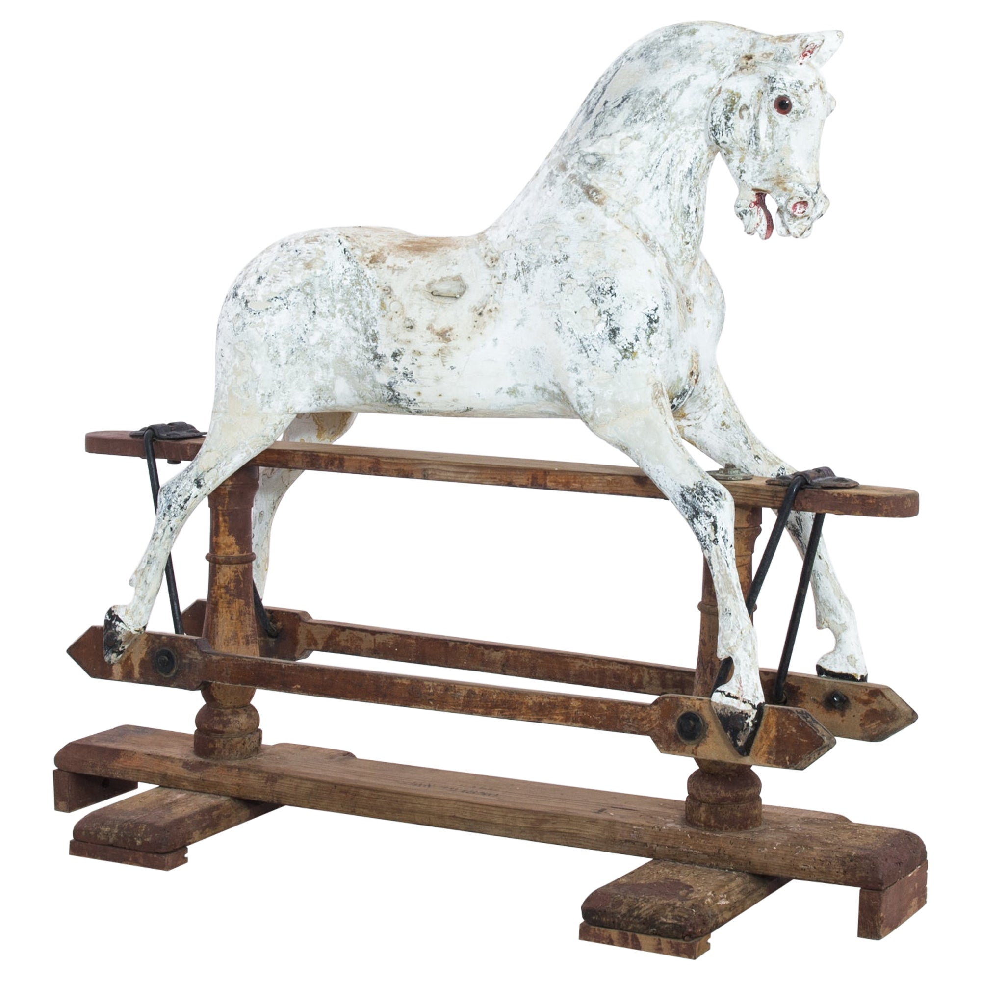 Antique Mechanical Rocking Horse