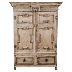1820s European Bleached Oak Wardrobe