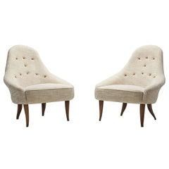 "Pair of ""Lilla Eva"" Chairs by Kerstin Hörlin-Holmquist, Sweden, 1950s"