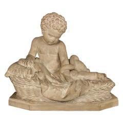 Italian 19th Century Plaster Statue of Young Baby Hercules