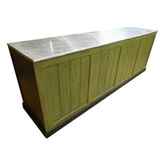 Large 20th Century Wooden Store Counter