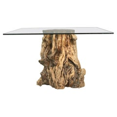 California Pepper Tree Wood Stump Side Table or Coffee Table