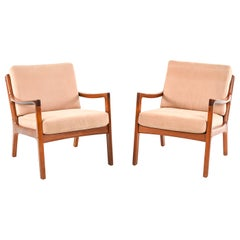 """Pair of Ole Wanscher for France and Son """"Senator"""" Chairs in Teak"""