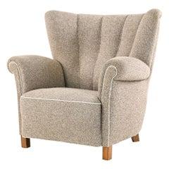 Danish Mid-Century Viggo Boesen Style Easy Chair