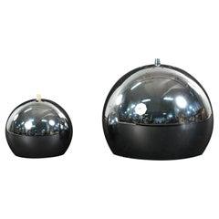 Two Verner Panton Style Pendant Lights