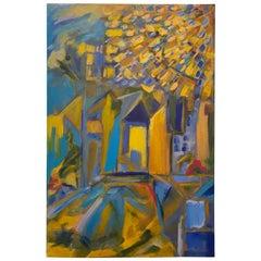 Abstract Acrylic on Canvas by Texas Artist Paula Sussman