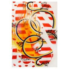 """Contemporary Colorful Artwork """"Bucles '17'"""" by Felicidad Moreno, 2001"""