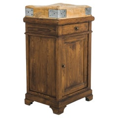 1930s Belgian Wooden Butcher's Block Table