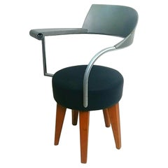 """Chair Armchair """"Techno"""" Design Philippe Starck For L'Oreal by Maletti, 1980s"""