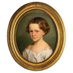 Child Portrait, Oil on Canvas